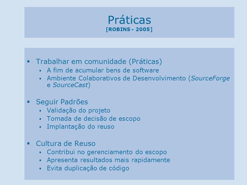 Práticas [ROBINS - 2005] Trabalhar em comunidade (Práticas)